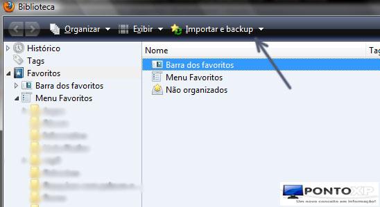 Favoritos do Firefox