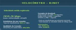 RJNET - Velocímetro - Medidor de Velocidade da Internet