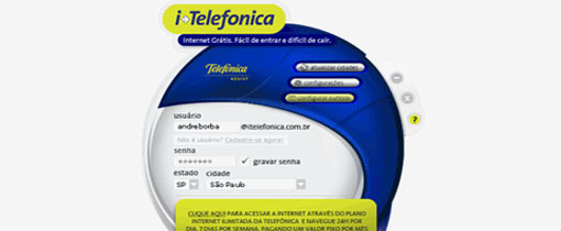 discador itelefonica internet ilimitada gratis