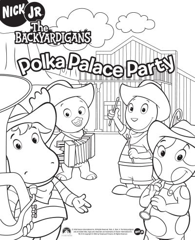 Grey Os Backyardigans Para Colorir  Jogos  Discovery Kids