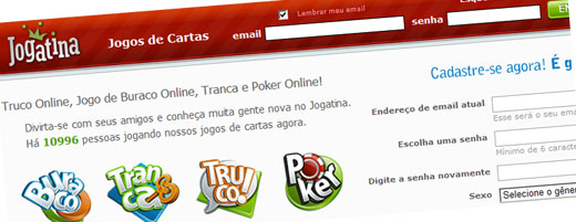 JOGATINA - JOGOS DE CARTAS, POKER, TRUCO, TRANCA - WWW.JOGATINA.COM