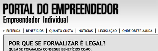 PORTAL DO EMPREENDEDOR - WWW.PORTALDOEMPREENDEDOR.GOV.BR - EMPREENDEDOR INDIVIDUAL