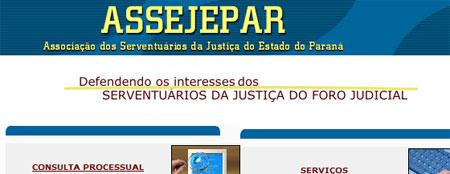 ASSEJEPAR - CONSULTA PROCESSUAL - TRIBUNAL DE JUSTIÇA DO PARANÁ - WWW.ASSEJEPAR.COM.BR