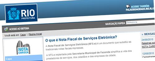 NOTA FISCAL CARIOCA - NF ELETRÔNICA RIO DE JANEIRO - RJ