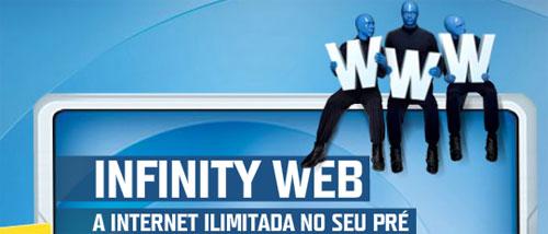 Acesso à internet por 50 centavos. TIM-INFINITY-WEB