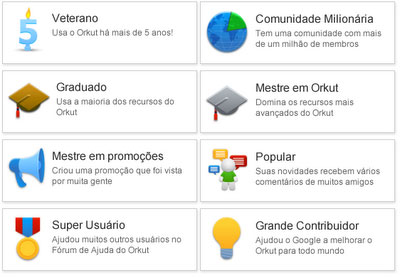 CÓDIGOS PARA SELOS DO ORKUT