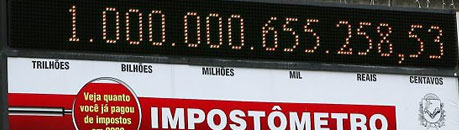 IMPOSTÔMETRO - TOTAL COM IMPOSTOS NO BRASIL