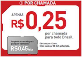 FALA MAIS BRASIL POR CHAMADA - CLARO