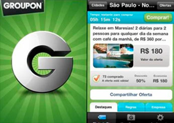 GROUPON - APLICATIVO PARA IPHONE