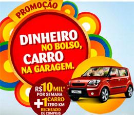 PROMOÇÃO DINHEIRO NO BOLSO, CARRO NA GARAGEM - SONDA SUPERMERCADOS