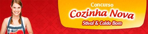 PROMOÇÃO COZINHA NOVA STIVAL & CALDO BOM - WWW.STIVAL.COM.BR