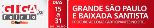 GIGA FEIRÃO WEBMOTORS - WWW.GIGAFEIRAOWEBMOTORS.COM.BR