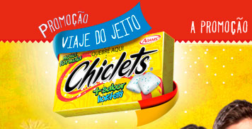 PROMOÇÃO VIAJE DO JEITO CHICLETS - WWW.VIAJEDOJEITOCHICLETS.COM.BR