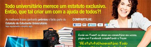 CONCURSO CULTURAL ESTATUTO DO ESTUDANTE UNIVERSITÁRIO - SARAIVA
