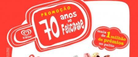 PROMOÇÃO 70 ANOS DE FELICIDADE KIBON - PALITO PREMIADO