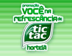 PROMOÇÃO VOCÊ NA REFRESCÂNCIA TIC TAC HORTELÃ