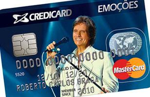 WWW.CREDICARD.COM.BR/EMOCOES - CARTÃO CREDICARD EMOÇÕES - ROBERTO CARLOS