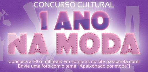 PROMOÇÃO 1 ANO NA MODA - PASSARELA.COM