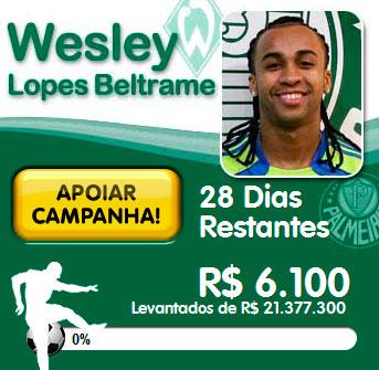 WWW.WESLEYNOVERDAO.COM.BR - CONTRATAÇÃO DO WESLEY NO PALMEIRAS PELA TORCIDA