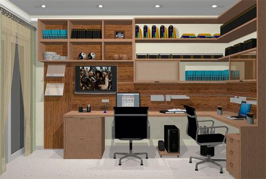 Como montar um home office dicas para decorar escrit rio - Escritorios para casas ...