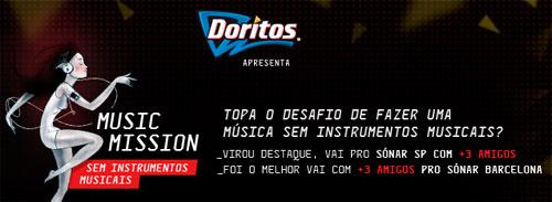 PROMOÇÃO DORITOS MUSIC MISSION FESTIVAL SÓNAR
