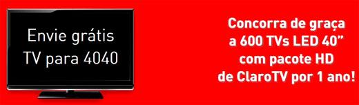 WWW.PREMIOSTODODIACLARO.COM.BR - PROMOÇÃO TV GRÁTIS TODO DIA CLARO