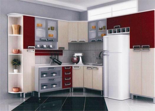 COZINHAS PLANEJADAS – MÓVEIS, FOTOS, PREÇOS, PEQUENAS, APARTAMEN # Cozinha Planejada Pequena Com Vermelho