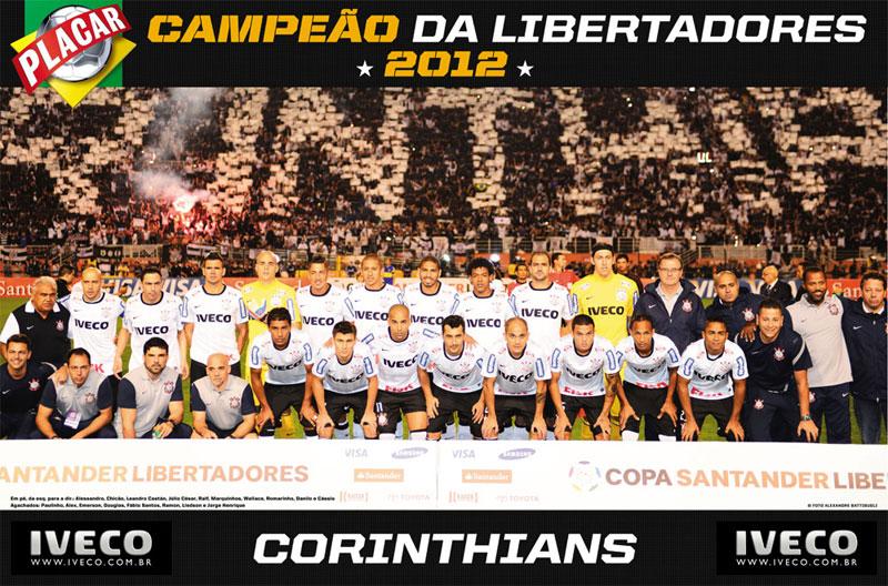 PÔSTER CORINTHIANS CAMPEÃO DA LIBERTADORES 2012 - TIMÃO CAMPEÃO DA AMÉRICA