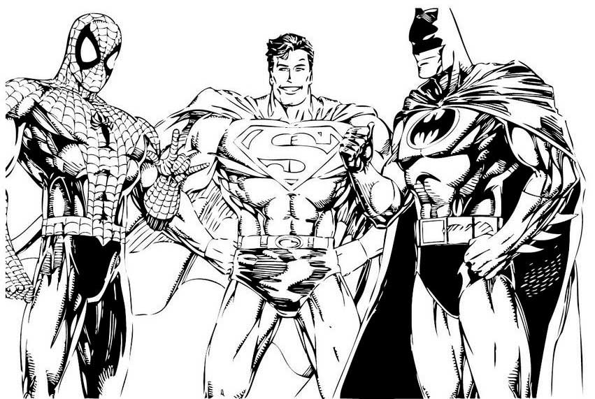 Desenhos para colorir e imprimir heróis