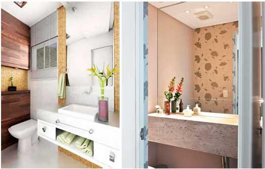decoracao de lavabos pequenos e simples : decoracao de lavabos pequenos e simples:na parede você pode usar de pastilhas ladrilhos papel de