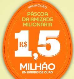 PROMOÇÃO CACAU SHOW 2013 PÁSCOA MILIONÁRIA