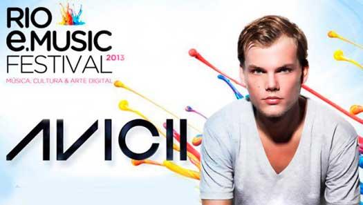 RIO E-MUSIC FESTIVAL 2013 - FESTIVAL DE MÚSICA ELETRÔNICA NO RIO DE JANEIRO COM DJ AVICII
