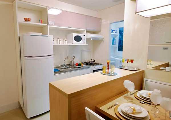 Cozinhas planejadas pequenas dicas de decora o fotos for Cocinas modernas apartamentos pequenos