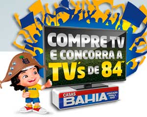 PROMOÇÃO TV TELA GRANDE CASAS BAHIA - TV 84 POLEGADAS 3D SMART LED ULTRA DEFINITION