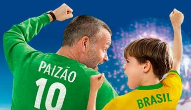 PROMOÇÃO DIA DOS PAIS SARAIVA - VOCÊ E SEU PAI NA COPA DO MUNDO FIFA 2014