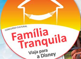 PROMOÇÃO FAMÍLIA TRANQUILA VIAJA PARA A DISNEY - WWW.ODULINE.COM.BR