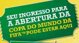 PROMOÇÃO CENTAURO BEM VINDO AOS INGRESSOS DA ABERTURA COPA DO MUNDO DA FIFA 2014