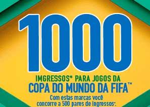 WWW.1000INGRESSOS.COM.BR - PROMOÇÃO VOCÊ NA COPA DO MUNDO DA FIFA 2014