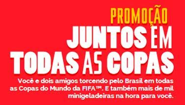 PROMOÇÃO COCA-COLA JUNTOS EM TODAS AS COPAS