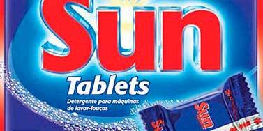 AMOSTRA GRÁTIS DETERGENTE SUN TABLETS