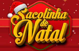 SACOLINHA DE NATAL TEXTIL ABRIL