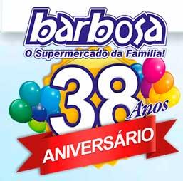 WWW.ANIVERSARIOBARBOSA.COM.BR - PROMOÇÃO ANIVERSÁRIO BARBOSA 38 ANOS, CADASTRAR CUPOM