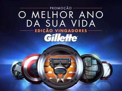 Promocao Gillette O Melhor Ano da Sua Vida Edicao Vingadores