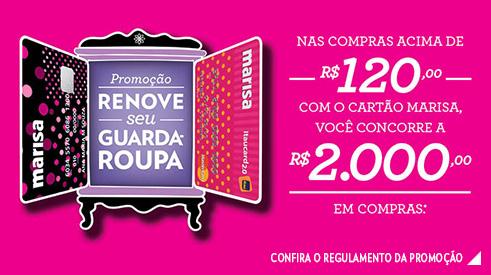 PROMOÇÃO RENOVE SEU GUARDA-ROUPA LOJAS MARISA