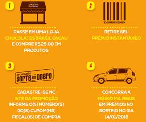 WWW.SORTEEMDOBRO.COM.BR - PROMOÇÃO SORTE EM DOBRO BRASIL CACAU